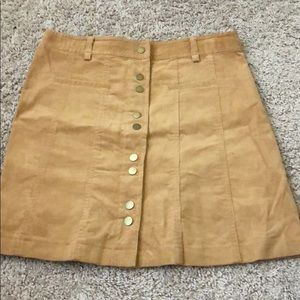 NEW light brown skirt with front buttons